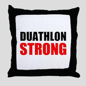 Duathlon Strong Throw Pillow