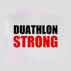 Duathlon Strong Throw Blanket