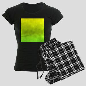 lime green yellow ombre Women's Dark Pajamas