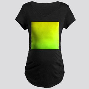 lime green yellow ombre Maternity T-Shirt