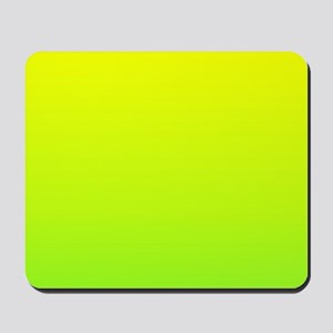 lime green yellow ombre Mousepad