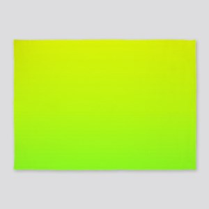 lime green yellow ombre 5'x7'Area Rug