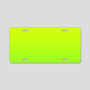 lime green yellow ombre Aluminum License Plate