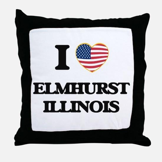 I love Elmhurst Illinois Throw Pillow