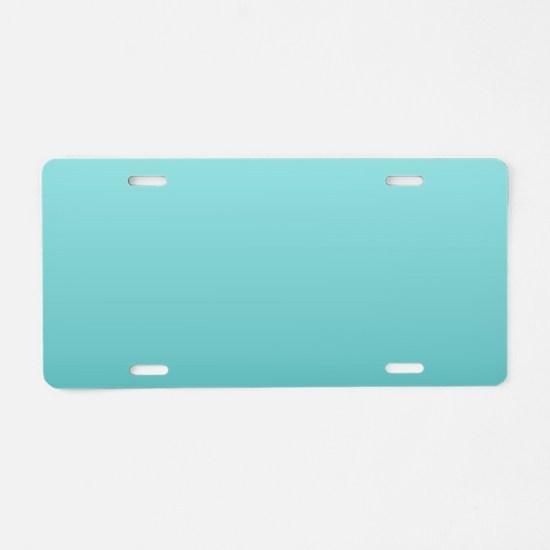 beach seafoam ombre Aluminum License Plate