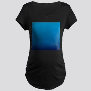 trendy ombre blue Maternity T-Shirt