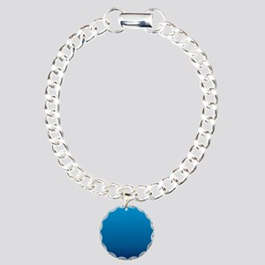 trendy ombre blue Charm Bracelet, One Charm
