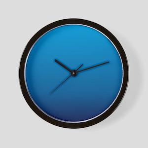 trendy ombre blue Wall Clock