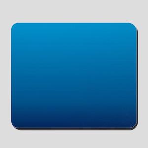 trendy ombre blue Mousepad