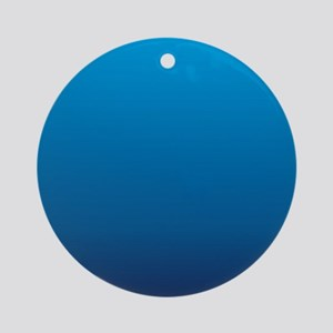 trendy ombre blue Ornament (Round)