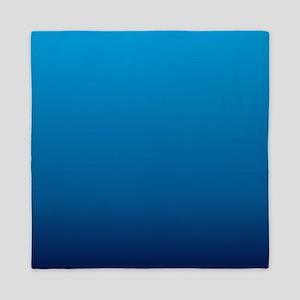 trendy ombre blue Queen Duvet