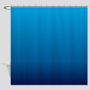 trendy ombre blue Shower Curtain