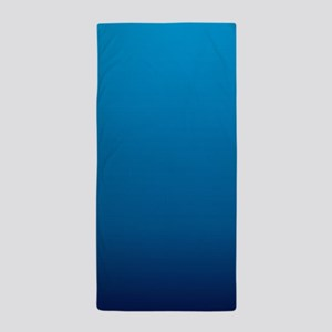 trendy ombre blue Beach Towel