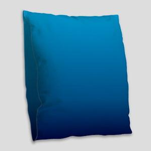 trendy ombre blue Burlap Throw Pillow