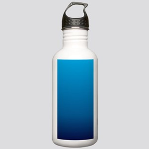 trendy ombre blue Stainless Water Bottle 1.0L