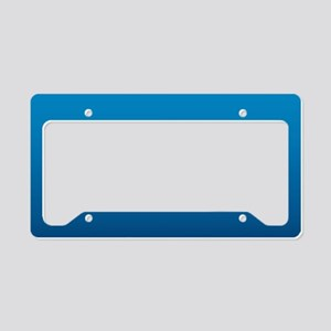 trendy ombre blue License Plate Holder