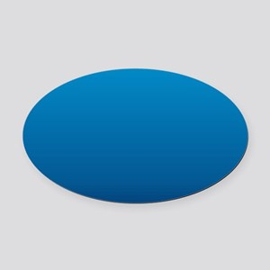 trendy ombre blue Oval Car Magnet