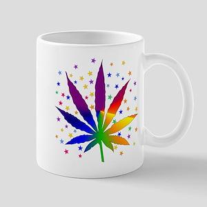 Rainbows and Stars Marijuana Mug