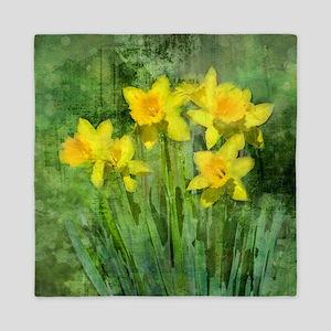 Daffodil Art Queen Duvet