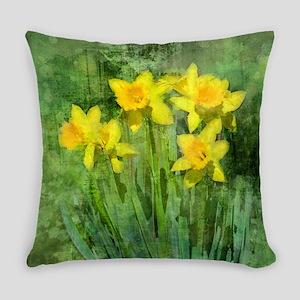 Daffodil Art Everyday Pillow