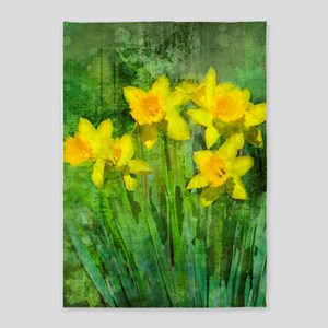 Daffodil Art 5'x7'Area Rug