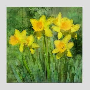 Daffodil Art Tile Coaster