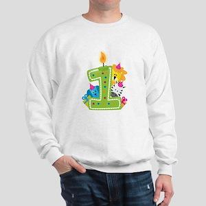 First Birthday Green Sweatshirt