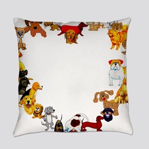 dogheart01 Everyday Pillow