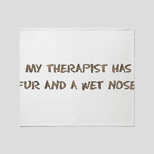 dog_therapist01 Throw Blanket