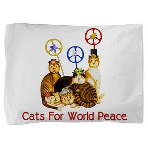 peacecats01 Pillow Sham