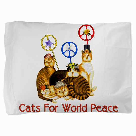 peacecats01.png Pillow Sham