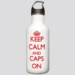 Keep Calm and Caps ON Stainless Water Bottle 1.0L