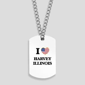 I love Harvey Illinois Dog Tags