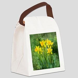 Daffodil Art Canvas Lunch Bag