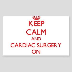 Keep Calm and Cardiac Surgery ON Sticker