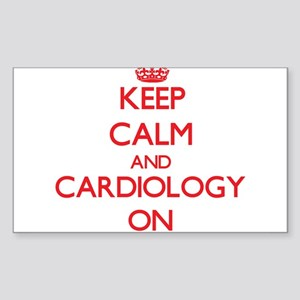 Keep Calm and Cardiology ON Sticker