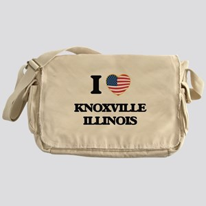 I love Knoxville Illinois Messenger Bag