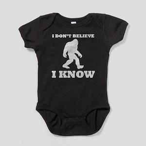 I Know Bigfoot (Distressed) Baby Bodysuit