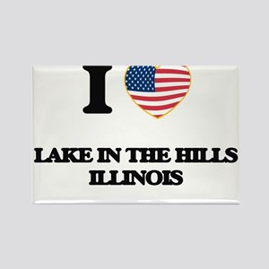 I love Lake In The Hills Illinois Magnets