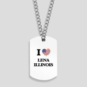 I love Lena Illinois Dog Tags