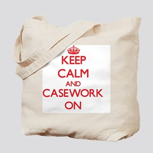 Keep Calm and Casework ON Tote Bag