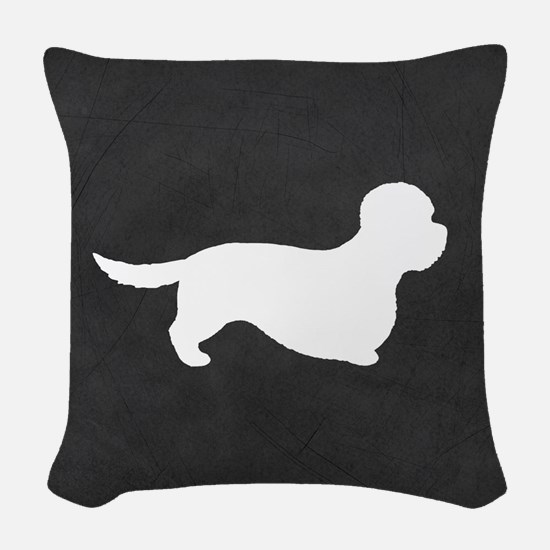 Dandie Dinmont Terrier Woven Throw Pillow