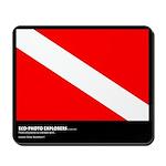 Eco-Photo Exploxers, Diver Down Flag, Mousepad