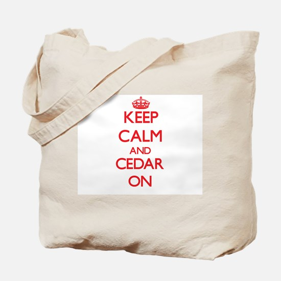 Keep Calm and Cedar ON Tote Bag