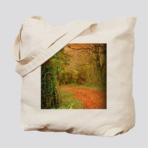 Red Fox on the Golden Path Tote Bag