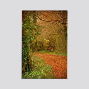 Red Fox on the Golden Path Rectangle Magnet