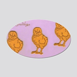 Easter Greetings Chicks in P 20x12 Oval Wall Decal