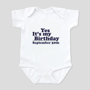 September 30th Birthday Infant Bodysuit