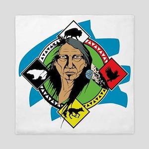 Native American Medicine Wheel Queen Duvet