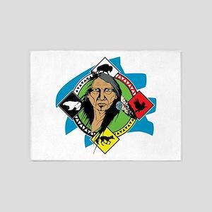 Native American Medicine Wheel 5'x7'Area Rug